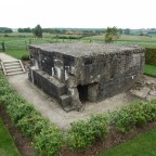 one of the many pillboxes captured by the New Zealanders during the battle of Messines Ridge 1917
