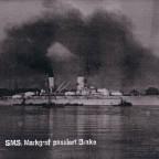 SMS Markgraf auf der Weser vor Brake